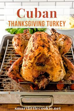 This oven roasted turkey recipe is marinated with homemade garlic mojo and Latin seasonings then baked to golden brown perfection. This is an easy and flavorful turkey recipe perfect for your Thanksgiving dinner. The holidays are approaching, which means it's time to bring out all the fabulous recipes that merit the occasion.   Smart Little Cookie @smatlilcookie #cubanturkeyrecipes #thanksgivingrecipes #turkeyrecipes #thanksgivingturkey #smartlittlecookie Thanksgiving Turkey, Thanksgiving Recipes, Fall Recipes, Holiday Recipes, Dinner Recipes, Roast Turkey Recipes, Oven Roasted Turkey, Meat Recipes, Frozen Turkey