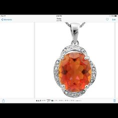Azotic Gemstone & Diamond Pendant‼️SALE‼️ 4.5 carat TW Azotic Gemstone and Genuine Diamond Platinum over 925 Sterling Silver Pendant (chain not included). SRP $460 Jewelry
