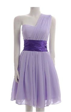Sweet Grecian Princess. Lavender Cocktail Dress. Bridesmaids Dress. I want one similar to this with sleeves!