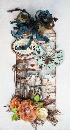 mixed media collage tag