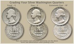 Silver Washington quarters value is tied closely to the price of silver. However, a few rare dates and mintmarks are very valuable.