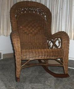 Bon Antique Wicker Rocking Chair