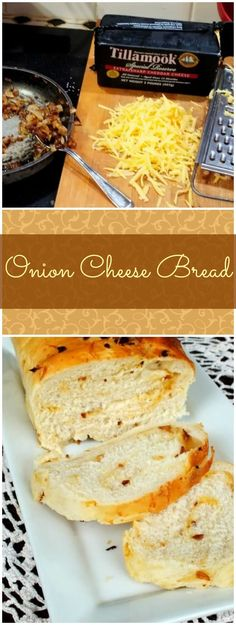 Onion cheese bread is easy to make and SO good! From RestlessChipotle.com