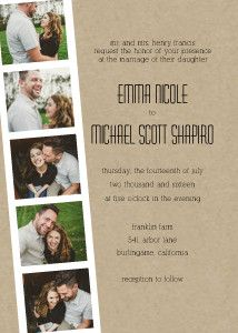 Mixbook Photo Strip Wedding Invitations