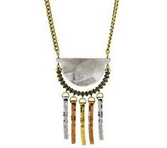 Wildlife by Heidi Klum Hammered Tassel Aztec Necklace