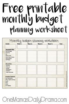 Get Your Finances In Order With These Free Printable Budget Sheets