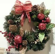 Mom's Christmas Wreath, everything from Michaels 70% off!