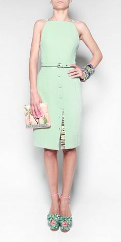 Mint Green Dress, Proenza Schouler, from The Webster. Love the shoes, too!