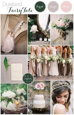 Dustland Fairy Tale – A Desaturated Forest Fairy Tale Wedding Inspiration Board in Blush and Neutral Tones