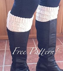 Free Knitting Pattern  Cute boot toppers