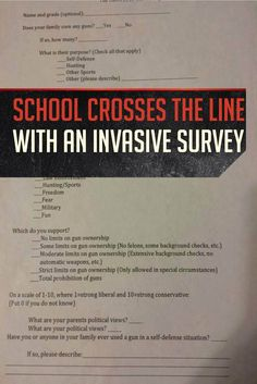 School Crosses the Line With Questions About Guns In Home | Gun Laws and Rights by Gun Carrier at http://guncarrier.com/school-crosses-the-line-with-questions-about-guns-in-home/