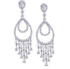 classic diamond chandelier earrings - Google Search