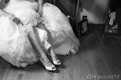 Bride and garter picture.  Wedding photography