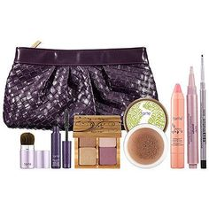 Tarte The Luxe List Amazonian Clay Color Collection and Woven Clutch