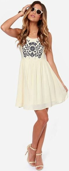 white dress @roressclothes closet ideas #women fashion outfit #clothing style apparel