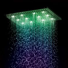 Spa Retreat: take your shower experience up a notch with the Jaclo Rettango Chromatherapy Dream Light Rain Canopy found at Gallery 268 Fine Fixtures & Faucetry! Patio Canopy, Canopy Outdoor, Portable Canopy, Queen Canopy Bed, Cool Backgrounds Wallpapers, Beautiful Fantasy Art, Safe Haven, Exhibition Space, Stars
