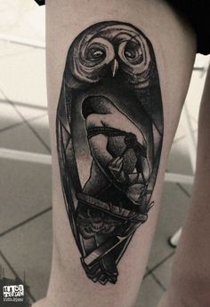 Owl Tattoo   Autor: Łukasz Sokołowski  Pytania o wolne terminy prosimy kierować na maila rocknink@gmail.com