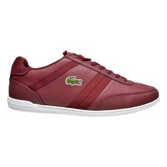 69a63afa07609 Lacoste Giron leather, lightweight low-top sneakers. - Leather upper. -  Textile