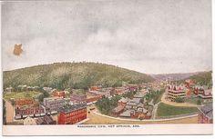 antique, panoramic view, Hot Springs National Park, Arkansas