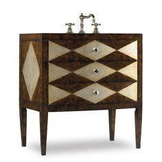 Cole & Co. combines unlimited design with excessive flexibility, permitting you to mix and match size, finish, and style to make your own unique bathroom vanity. The Hathaway Sink Chest is a versatile vanity with its transitional styling and raised skirt. http://www.listvanities.com/Cole-Co-Designer-Series-Vanities.html Two of the three drawers are available for storage. Constructed of hardwood solids and veneers that are hand painted in a harlequin diamond design on top, sides and front…