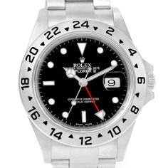 14533 Rolex Explorer II Black Dial Parachrom Hairspring Automatic Watch 16570 SwissWatchExpo