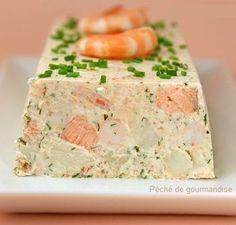 Terrine de saumon et crevettes Más