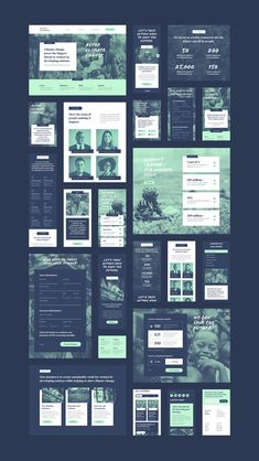 Non-profit UI Kit on Behance Charity Websites, Ui Design Patterns, Design Thinking Process, Adobe Xd, Web Layout, Layout Design, Ui Kit, App Design, Design Websites