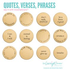 inscribe quotes + phrases on a plate in your Origami Owl locket with inscriptions http://christinapainter.origamiowl.com/