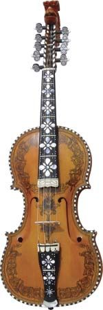Hardanger fiddle, a Norwegian folk instrument.