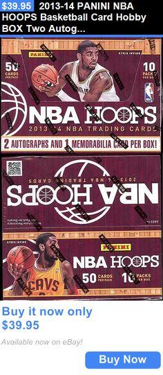 Sports Memorabilia: 2013-14 Panini Nba Hoops Basketball Card Hobby Box Two Autographs 1 Memorabilia BUY IT NOW ONLY: $39.95