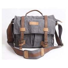 Smoke Gray Canvas Camera Bag Outdoor Camera Bags Camera Messenger Bag... ❤ liked on Polyvore featuring bags, accessories, canvas cross body bag, canvas messenger bag, water proof camera bag, canvas camera bag and canvas crossbody bag