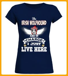 Irish Wolfhound Is In Charge Here - Wolf shirts (*Partner-Link)