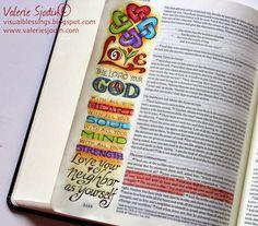 WOW!!    visual blessings: Bible Art Journaling Deeper in Love