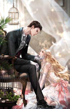 Romantic Anime Couples, Fantasy Couples, Romantic Manga, Cute Couples, Anime Couples Drawings, Anime Couples Manga, Anime Poses, Anime Art Girl, Manga Art