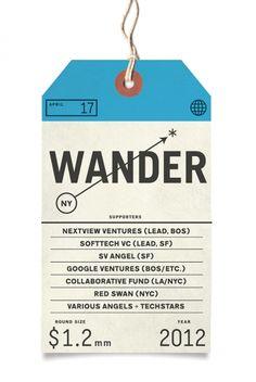 Wander - bag tag