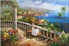Italian Terrace Garden Tuscany Italy