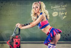 Lollipop Chainsaw sold by Kristen Lanae. Shop more products from Kristen Lanae on Storenvy, the home of independent small businesses all over the world. Cosplay Girls, Juliet Starling, Lollipop Chainsaw, Teen Girl Poses, Video Game Cosplay, Girls In Mini Skirts, Bodysuit, Video Game Characters, Ladies Night