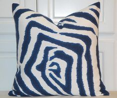 DOUBLE SIDED Ikat Zebra Decorative Pillow Cover  Lacefield