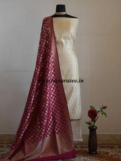 Banarasee Handwoven Art Silk Unstitched Lehenga & Blouse Fabric With M