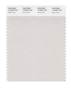 13-0002 TCX White Sand PANTONE FHI Color Swatch Card