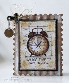Created by Emma for the Simon Says Stamp Monday challenge (Use a Stamp) Tim Holtz Stamps, Stampers Anonymous, Scrapbooking, Simon Says Stamp, Masculine Cards, Card Tags, Cool Cards, Greeting Cards Handmade, Homemade Cards