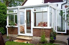White PVCu Self-Build Lean-to Conservatory. Sunlounge Conservatories Manufactured and supplied by ConservatoryLand DIY Conservatories UK. Conservatory pictures kindly supplied by our customers.