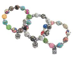 Say a Little Prayer ~ Prayer Box bracelets feature polymer clay beads accented with a prayer box charm.