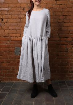 Linen dress. Dress for women / Linen Tunic Top / Casual Everyday Comfortable Womens Clothing