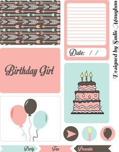 "FREE Printables -- ""Birthday Girl"" PL Cards"