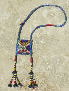 Handmade ethnic necklace with Vietnamese centerpiece by EthnicTree, $110.00