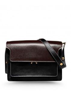 Marni Trunk Leather Shoulder Bag - Shop more Fashion Week street styles at  ShopBAZAAR.com d361ddc5a6537
