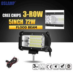 check discount oslamp 5inch 72w led work light bar offroad led bar flood beam led work lights truck #truck #led #light #bar