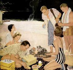 beer belongs at the weenie roast 1955