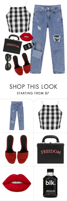 """""""good spirits"""" by chanelandcoke ❤ liked on Polyvore featuring Glamorous, Alexander Wang, Bertoni, Lime Crime and Acne Studios"""